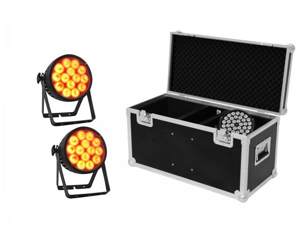 EUROLITE Set 2x LED IP PAR 14x10W HCL + Case // EUROLITE Set 2x LED IP PAR 14x10W HCL + Case1