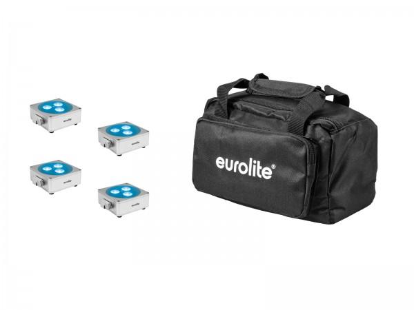 EUROLITE Set 4x AKKU Flat Light 3 sil + Soft-Bag // EUROLITE Set 4x AKKU Flat Light 3 sil + Soft-Bag1