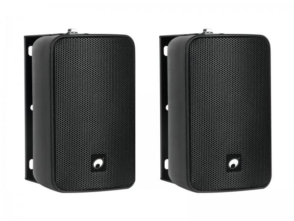 OMNITRONIC ODP-204 Installationslautsprecher 16 Ohm schwarz 2x // OMNITRONIC ODP-204 Installation Speaker 16 ohms black 2x1