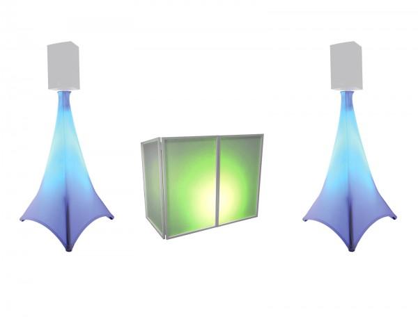 EUROLITE Set AKKU 2x Flat Light 3 sw + Bar-6 + Ständer // EUROLITE Set AKKU 2x Flat light 3 bk + Bar-6 + Stands1