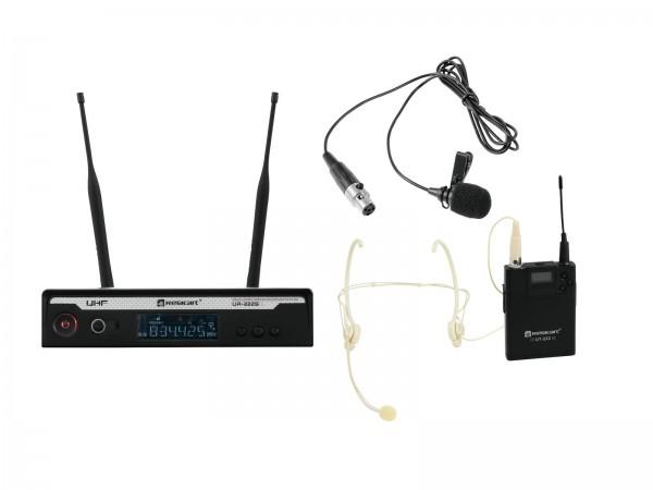 RELACART Set UR-222S Bodypack mit Headset und Lavalier // RELACART Set UR-222S Bodypack with Headset and Lavalier1