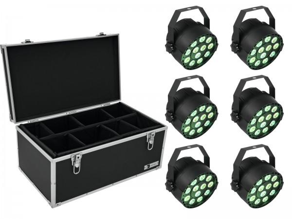 EUROLITE Set 6x LED PARty TCL Spot + Case TDV-1 // EUROLITE Set 6x LED PARty TCL Spot + Case TDV-11