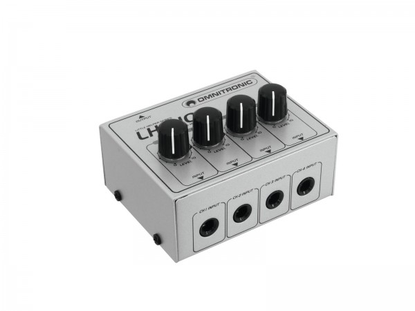 OMNITRONIC LH-010 4-Kanal-Mixer passiv // OMNITRONIC LH-010 4-Channel Mixer passive1