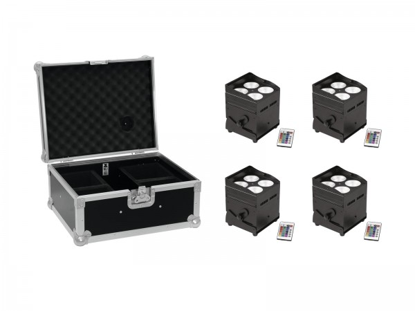 EUROLITE Set 4x AKKU UP-4 QCL Spot QuickDMX + Case // EUROLITE Set 4x AKKU UP-4 QCL Spot QuickDMX + Case1