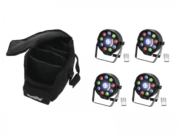 EUROLITE Set 4x LED SLS-9 Hybrid HCL + Soft-Bag // EUROLITE Set 4x LED SLS-9 Hybrid HCL + Soft-Bag1