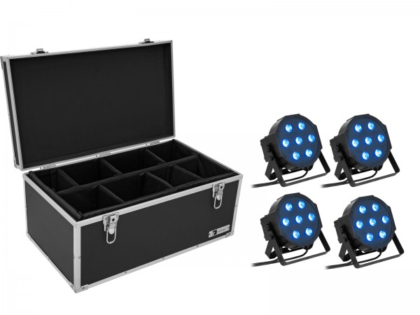 EUROLITE Set 4x LED SLS- QCL Floor + Case TDV-1 // EUROLITE Set 4x LED SLS- QCL Floor + Case TDV-11