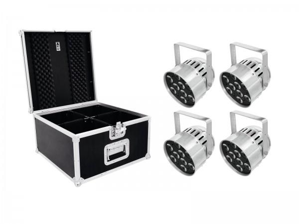 EUROLITE Set 4x LED PAR-56 HCL Short sil + PRO Case // EUROLITE Set 4x LED PAR-56 HCL Short sil + PRO Case1