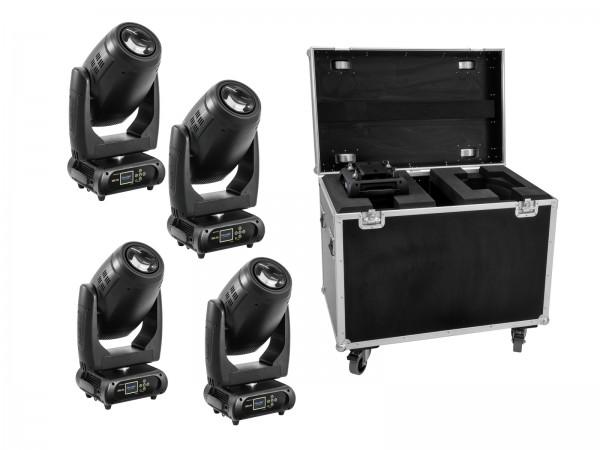 FUTURELIGHT Set 4x DMH-200 LED Moving-Head + Case // FUTURELIGHT Set 4x DMH-200 LED Moving-Head + Case1