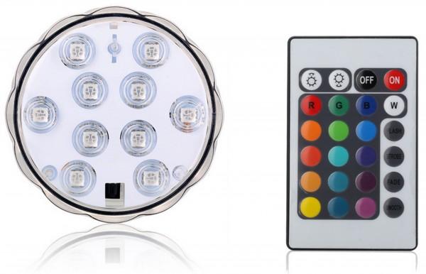 LED Untersetzer mit Fernbedienung