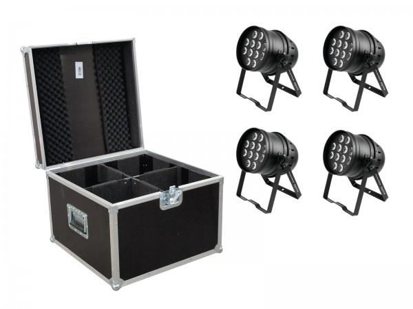 EUROLITE Set 4x LED PAR-64 HCL 12x10W sw + Case // EUROLITE Set 4x LED PAR-64 HCL 12x10W bk + Case1