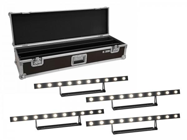 EUROLITE Set 4x LED STP-10 Sunbar 3200K 10x5W Lichtleiste + Case // EUROLITE Set 4x LED STP-10 Sunbar 3200K 10x5W Light Bar + Case1
