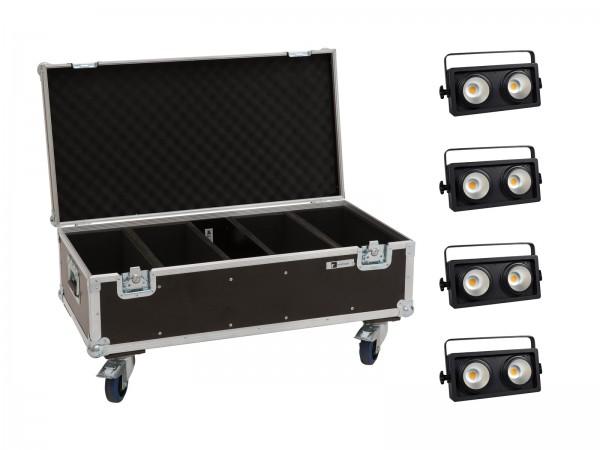 EUROLITE Set 4x Audience Blinder 2x100W LED COB WW + Case // EUROLITE Set 4x Audience Blinder 2x100W LED COB WW + Case1