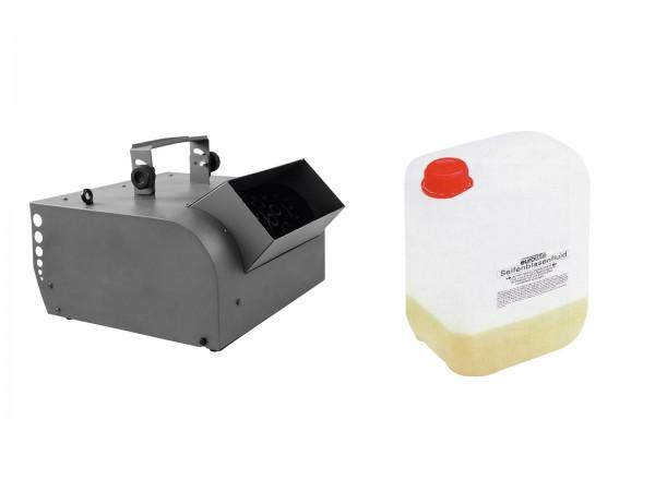 EUROLITE Set BW-200 Seifenblasenmaschine + Seifenblasenkonzentrat für 5l // EUROLITE Set BW-200 Bubble machine + bubble concentrate for 5l1
