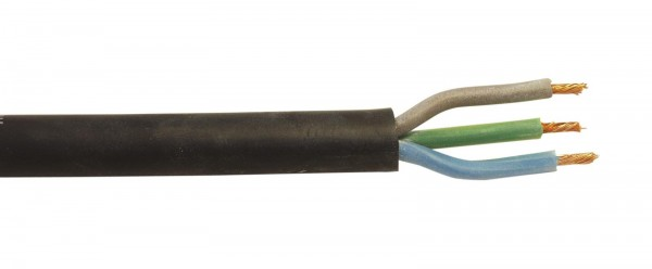 HELUKABEL Stromkabel 3x1,5 100m sw Silikon H05SS-F // HELUKABEL Power Cable 3x1.5 100m bk Silicone H05SS1
