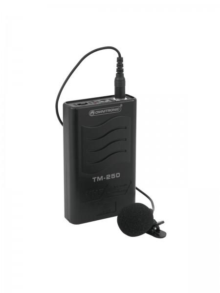OMNITRONIC TM-250 Gürtelsender VHF214.000 // OMNITRONIC TM-250 Transmitter VHF214.0001