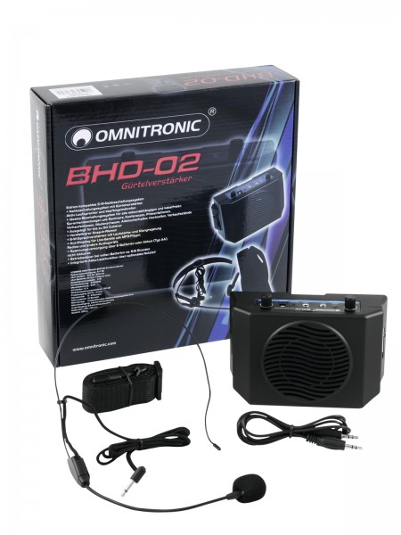 OMNITRONIC BHD-02 Gürtelverstärker // OMNITRONIC BHD-02 Waistband Amplifier1