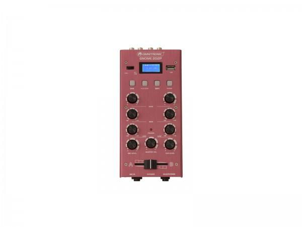 OMNITRONIC GNOME-202P Mini-Mixer rot // OMNITRONIC GNOME-202P Mini Mixer red1