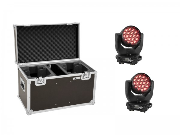 EUROLITE Set 2x LED TMH-X4 Moving-Head Wash Zoom + Case // EUROLITE Set 2x LED TMH-X4 Moving-Head Wash Zoom + Case1