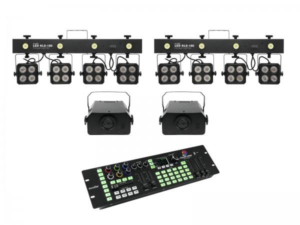 EUROLITE Set 2x LED KLS-180 + 2x LED WF-40 + DMX LED Color Chief Controller // EUROLITE Set 2x LED KLS-180 + 2x LED WF-40 + DMX LED Color Chief Controller1