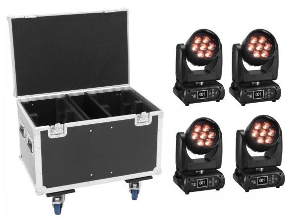 FUTURELIGHT Set 4x EYE-7 HCL Zoom + Case // FUTURELIGHT Set 4x EYE-7 HCL Zoom + Case1