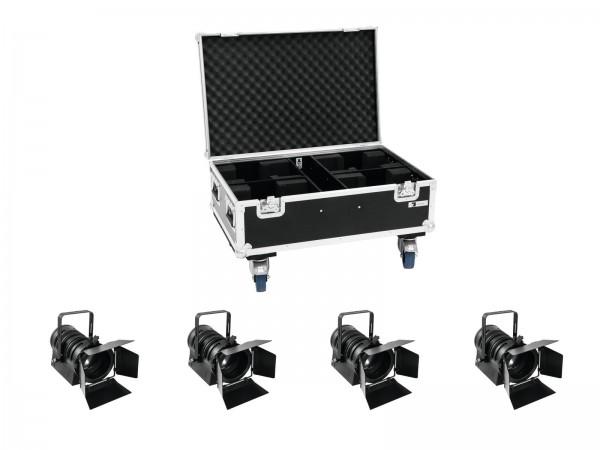 EUROLITE Set 4x LED THA-40PC sw + Case // EUROLITE Set 4x LED THA-40PC bk + Case1