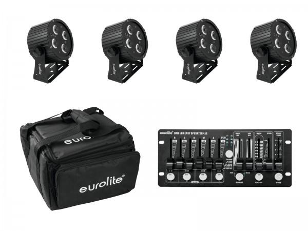 EUROLITE Set 4x LED PS-4 HCL + Soft Bag + Controller // EUROLITE Set 4x LED PS-4 HCL + Soft Bag + Controller1