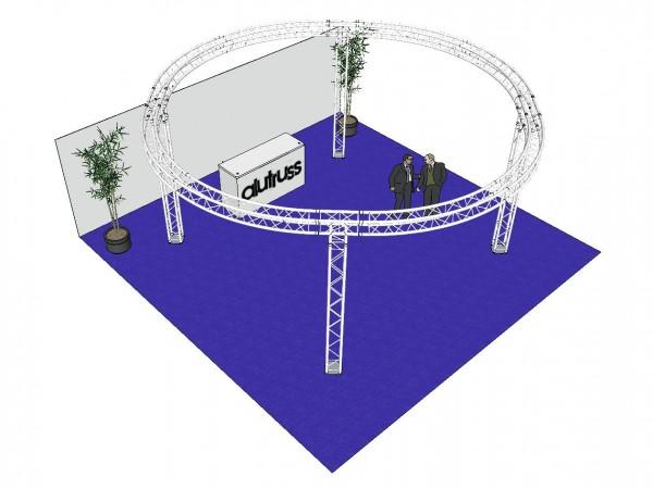 ALUTRUSS Traversenset QUADLOCK 6082 Kreis 6,6x3,5m // ALUTRUSS Truss set QUADLOCK 6082 circle 6.6x3.5m1