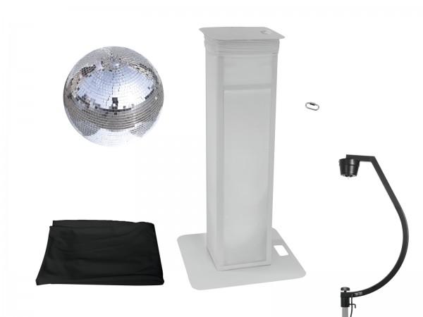EUROLITE Set Spiegelkugel 50cm mit Stage Stand variabel + Cover schwarz // EUROLITE Set Mirror ball 50cm with Stage Stand variable + Cover black1