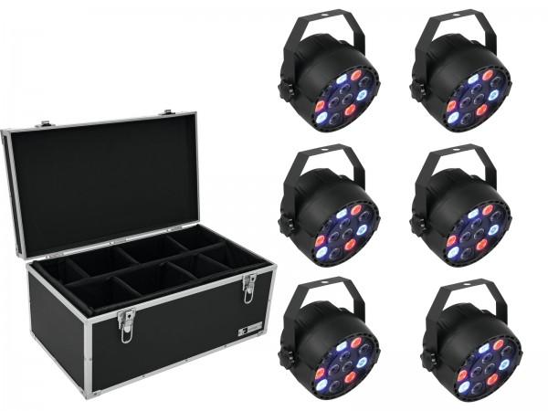 EUROLITE Set 6x LED PARty Spot + Case TDV-1 // EUROLITE Set 6x LED PARty Spot + Case TDV-11