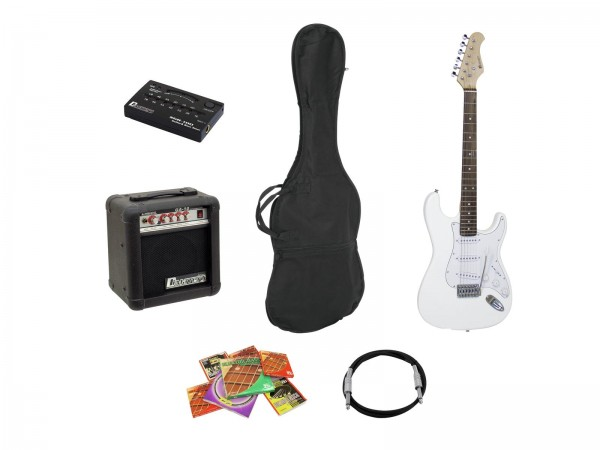 DIMAVERY EGS-10X E-Gitarren-Set, weiß // DIMAVERY EGS-10X electric guitar set, white1