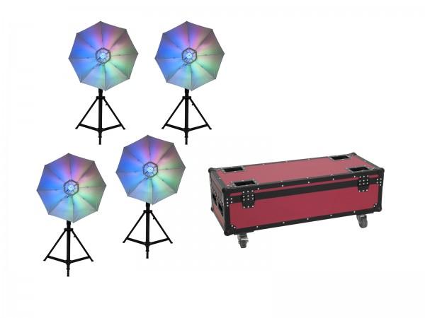 EUROLITE Set 4x LED Umbrella 95 + Case // EUROLITE Set 4x LED Umbrella 95 + Case1
