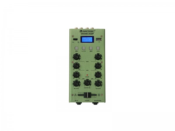 OMNITRONIC GNOME-202P Mini-Mixer grün // OMNITRONIC GNOME-202P Mini Mixer green1
