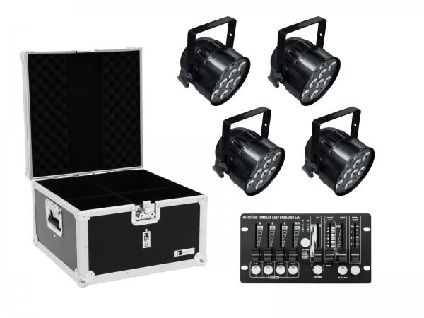 EUROLITE Set 4x LED PAR-56 QCL sw + Case + Controller // EUROLITE Set 4x LED PAR-56 QCL bk + Case + Controller1