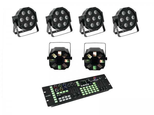 EUROLITE Set 4x LED SLS-7 HCL Floor + 2x LED FE-700 + DMX LED Color Chief Controller // EUROLITE Set 4x LED SLS-7 HCL Floor + 2x LED FE-700 + DMX LED Color Chief Controller1