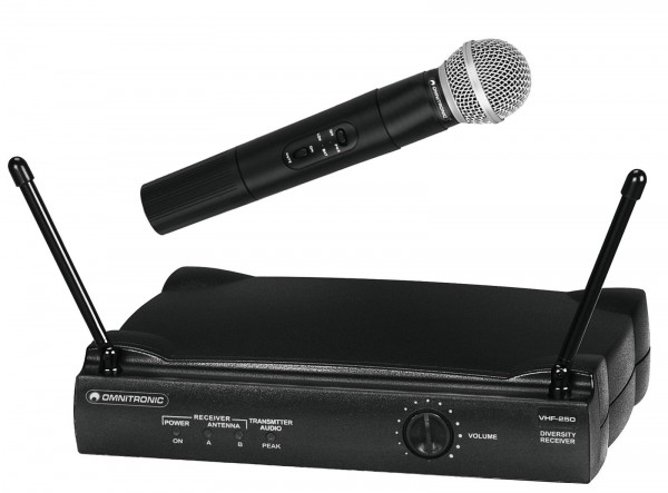 OMNITRONIC VHF-250 Funkmikrofonset 179MHz // OMNITRONIC VHF-250 Wireless Mic Set 1791