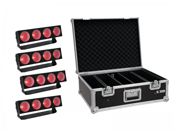 EUROLITE Set 4x LED CBB-4 COB RGB Leiste + Case // EUROLITE Set 4x LED CBB-4 COB RGB Bar + Case1