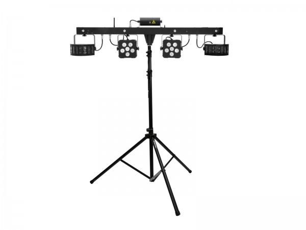 EUROLITE Set LED KLS Laser Bar PRO FX-Lichtset + M-4 Boxenhochständer // EUROLITE Set LED KLS Laser Bar PRO FX Light Set + M-4 Speaker-System Stand1