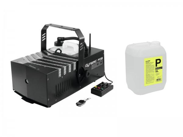 EUROLITE Set Dynamic Fog 1500 Flex + Smoke Fluid -P2D- 5l // EUROLITE Set Dynamic Fog 1500 Flex + Smoke fluid -P2D- 5l1